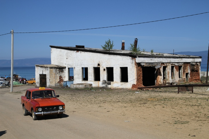 Little Red Car on the island of Olkhon